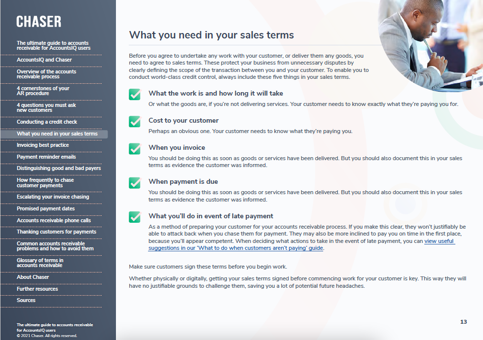 Chaser-The ultimate guide to accounts receivable for AccountsIQ usersthumbnail Preview 2